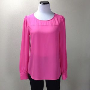 J. Crew Pink Factory Long Sleeve Top
